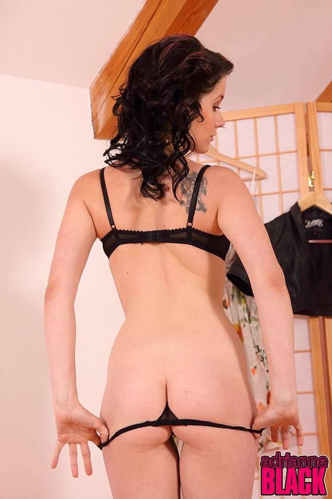 Adrianne Black Thong